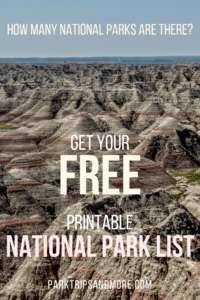 picture regarding Printable List of National Parks identify How Plenty of Nationwide Parks Are There? No cost Printable! Park